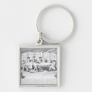 The Council of War in 1756 Keychain