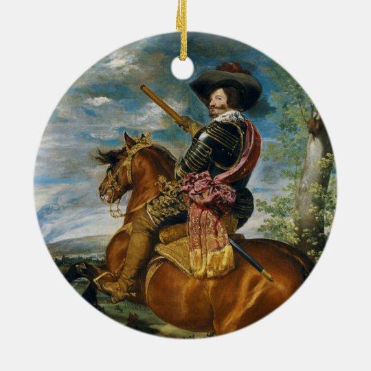 The Count Duke Of Olivares by Diego Velazquez 1634 Ceramic Ornament