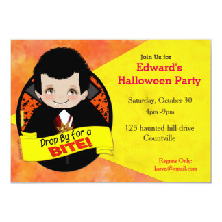 The Count Halloween Party Invite