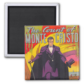 The Count of Monty Cristo Comic 2 Inch Square Magnet