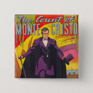 The Count of Monty Cristo Comic Pinback Button