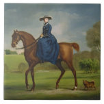 The Countess of Coningsby in the Costume of the Ch Large Square Tile
