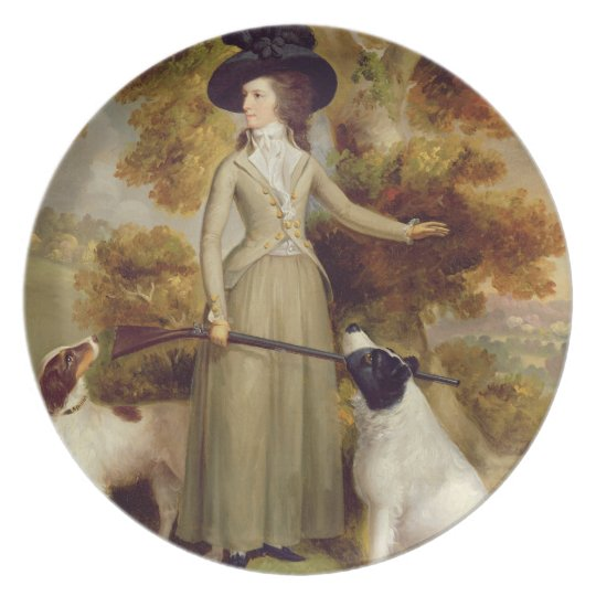 The Countess of Effingham with Gun and Shooting Do Melamine Plate