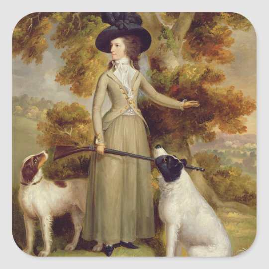 The Countess of Effingham with Gun and Shooting Do Square Sticker