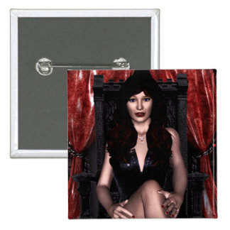 The Countess Vampire Gothic Pinback Button