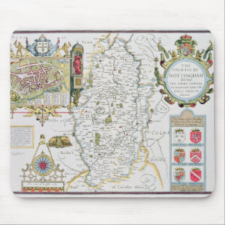 The Countie of Nottingham, engraved by Jodocus Mousepads