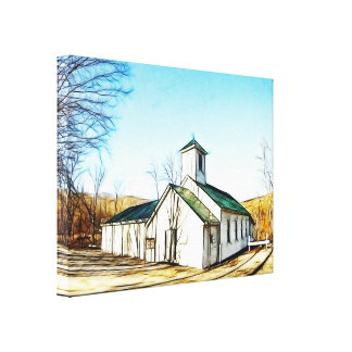 The Country Chapel Canvas Print