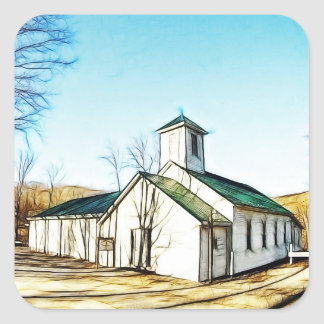 The Country Chapel Square Sticker