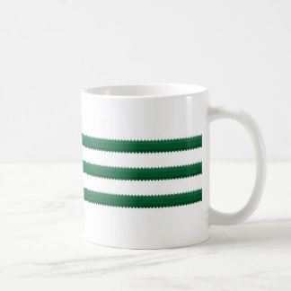 The Country Classic Mug / Three Deep Green Stripes