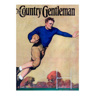 The Country Gentleman - Vintage Rugby Print