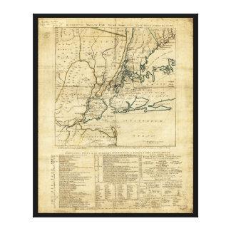 The Country Twenty Five Miles Round New York 1776 Canvas Print