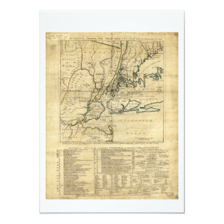 The Country Twenty Five Miles Round New York 1776 Card