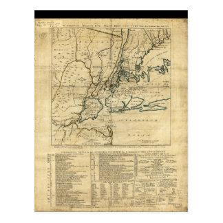 The Country Twenty Five Miles Round New York 1776 Postcard