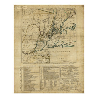 The Country Twenty Five Miles Round New York 1776 Poster