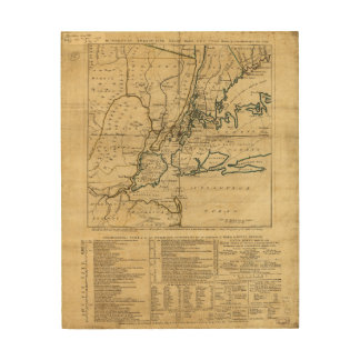 The Country Twenty Five Miles Round New York 1776 Wood Wall Art
