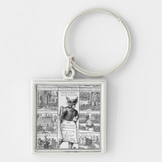 The Country's Complaint Silver-Colored Square Keychain