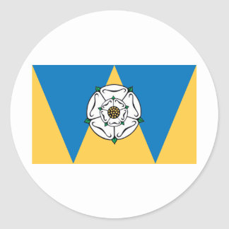 The County Flag of West Yorkshire Classic Round Sticker