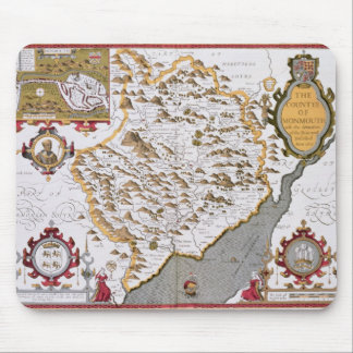 The Countye of Monmouth, engraved by Jodocus Mousepads