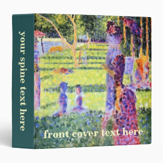 The Couple by Georges Seurat, Vintage Pointillism Binder
