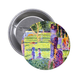 The Couple by Georges Seurat, Vintage Pointillism Pins