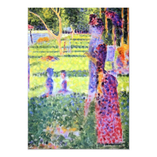 The Couple by Georges Seurat, Vintage Pointillism Invitation