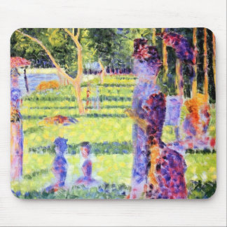 The Couple by Georges Seurat, Vintage Pointillism Mouse Pad