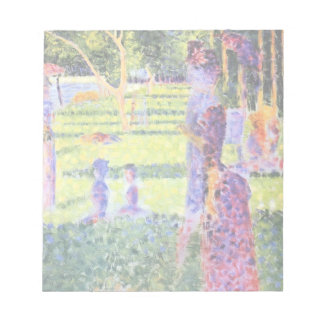 The Couple by Georges Seurat, Vintage Pointillism Notepad