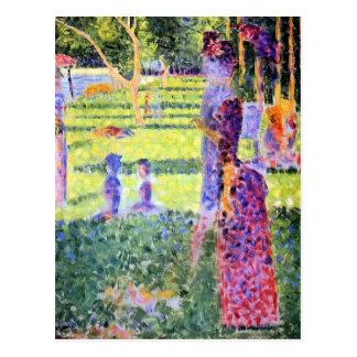 The Couple by Georges Seurat, Vintage Pointillism Postcard