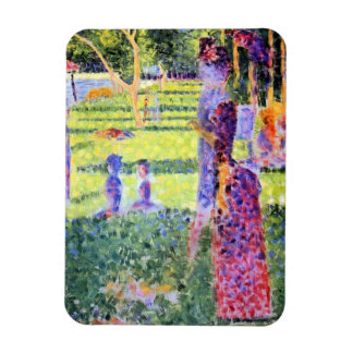 The Couple by Georges Seurat, Vintage Pointillism Vinyl Magnets