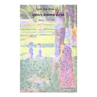 The Couple by Georges Seurat, Vintage Pointillism Stationery