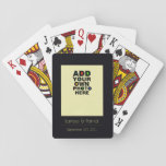 """the couple photo playing cards<br><div class=""""desc"""">A photo of the couple with a black frame background,  names and special date</div>"""