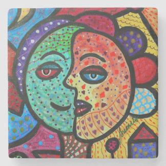 The Couple, Sun and Moon Stone Coaster
