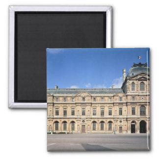 The Cour Carree and the Pavilion de l'Horloge 2 Inch Square Magnet