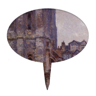 The Cour d'Albane, Grey Weather by Claude Monet Cake Topper