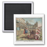 The Courage of Pepin (714-68), engraved by Jean Ba 2 Inch Square Magnet