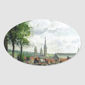 The Cours la Riene, The Notre Dame Cathedral Oval Sticker