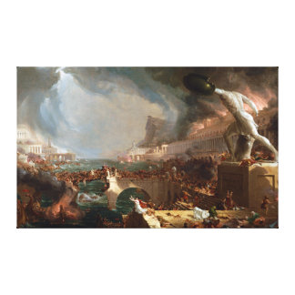 The Course of Empire: Destruction by Thomas Cole Canvas Print