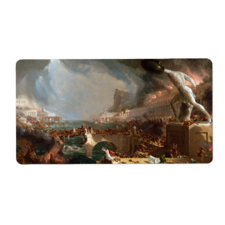 The Course of Empire: Destruction by Thomas Cole Label