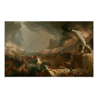 The Course of Empire: Destruction Poster