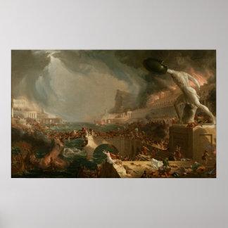 The Course of Empire: Destruction Print