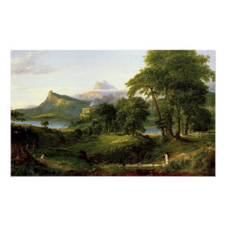 The Course of Empire, The Arcadian or Pastoral Sta Poster