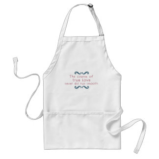 The Course of True Love Adult Apron