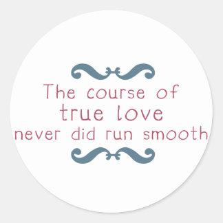 The Course of True Love Classic Round Sticker