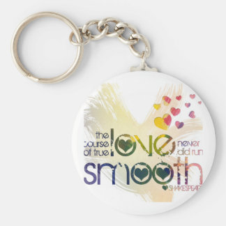 the course of true love never did run smooth keychain