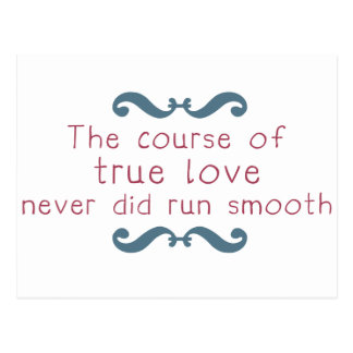 The Course of True Love Postcard