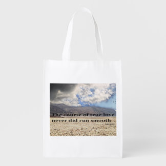 The Course of True Love Reusable Bag Grocery Bag