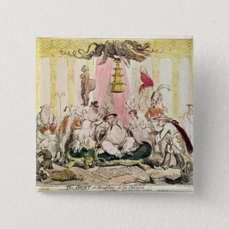 The Court at Brighton a la Chinese, 1816 Pinback Button