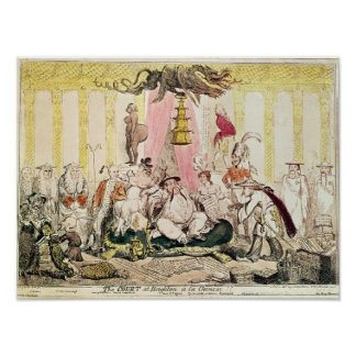The Court at Brighton a la Chinese, 1816 Poster