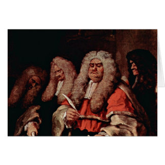 The Court By Hogarth, William (Best Quality) Greeting Card