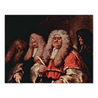 The Court By Hogarth, William (Best Quality) Custom Announcements